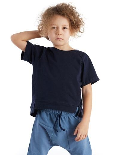 Colorinas Asimetric Comfy T-Shirt Lacivert